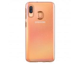 Husa Premium Originala Spigen Liquid Crystal Samsung Galaxy A40, Silicon,Glitter Transparenta