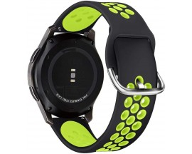 Curea Ceas Upzz Tech Compatibila Cu Samsung Galaxy Watch 3 - 45mm Negru/Verde