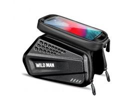 Geanta Bicicleta Impermeabila Pentru Cadru Marime XXL - WildMan Hardpouch Black
