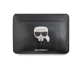 Husa Originala Karl Lagerfeld Compatibila Cu Laptop /Macbook Pro ,Air 13inch ,Negru ,Piele ecologica ,Inchidere Magnetica