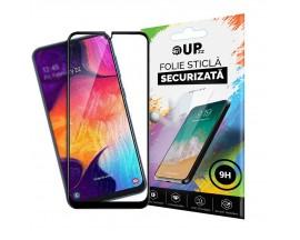 Folie Sticla 9h Full Cover Full Glue Upzz Samsung Galaxy M21 Cu Adeziv Pe Toata Suprafata Foliei Neagra