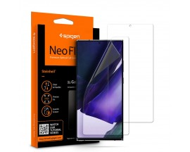 Folie Silicon Premium Neo Flex Spigen Samsung Galaxy Note 20 Ultra,Transparenta Case Friendly 2 Bucati In Pachet
