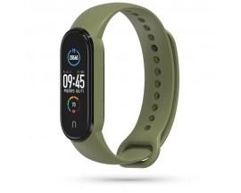 Curea Upzz Tech Icon Compatibila Cu Xiaomi Mi Band 5 , Military Green