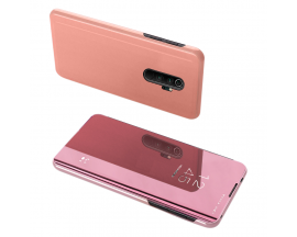 Husa Tip Carte S View Mirror Xiaomi Redmi Note 8 Pro Rose Gold