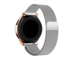 Curea Ceas Upzz Tech Compatibila Cu Samsung Galaxy Watch 3, 41mm , Milaneseband-Argintiu