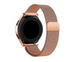 Curea Ceas Upzz Tech Compatibila Cu Samsung Galaxy Watch 3, 41mm , Milaneseband-Brush Gold