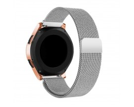 Curea Ceas Upzz Tech Compatibila Cu Samsung Galaxy Watch 3, 45mm , Milaneseband-Silver