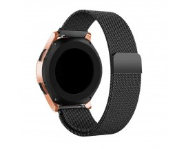 Curea Ceas Upzz Tech Compatibila Cu Samsung Galaxy Watch 3, 45mm , Milaneseband-Negru