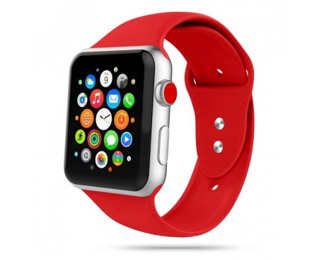 Curea Smooth Band  Upzz Tech Protect ,compatibila Cu Apple Watch 1/2/3/4/5 (38/40mm), Red