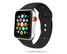Curea Smooth Band Upzz Tech Protect ,compatibila Cu Apple Watch 1/2/3/4/5 (38/40mm),Negru