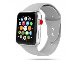Curea Smooth Band Upzz Tech Protect ,compatibila Cu Apple Watch 1/2/3/4/5 (42/44mm), Gri