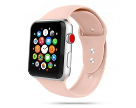 Curea Smooth Band Upzz Tech Protect ,compatibila Cu Apple Watch 1/2/3/4/5 (42/44mm), Roz