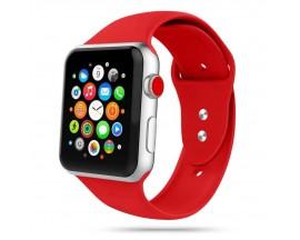 Curea Smooth Band Upzz Tech Protect ,compatibila Cu Apple Watch 1/2/3/4/5 (42/44mm), Rosu
