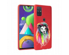 Husa Silicon Soft Upzz Print Candy Samsung Galaxy A21S Multicolor Lion Red