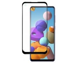 Folie Sticla Nano Glass Full Glue Flex Upzz Samsung Galaxy A21s Negru Ultra Rezistenta