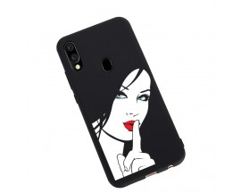 Husa Silicon Soft Upzz Print Candy Samsung Galaxy A20e Red Lips Blue Eyes Negru