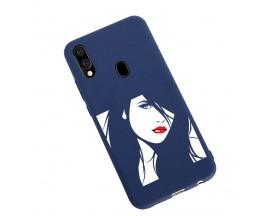 Husa Silicon Soft Upzz Print Candy Samsung Galaxy A20e Red Lips Albastru