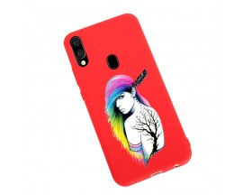 Husa Silicon Soft Upzz Print Candy Samsung Galaxy A20e Tatoo Girl Rosu