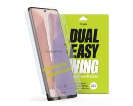Folie Premium Full Cover Ringke Dual Easy Samsung Galaxy Note 20 ,Transparenta -2 Bucati In Pachet