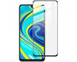 Folie Sticla Full Cover Full Glue Upzz Xiaomi Redmi Note 9 Pro Max Cu Adeziv Pe Toata Suprafata Foliei Neagra