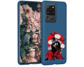 Husa Silicon Soft Upzz Print Candy Samsung Galaxy S20 Ultra Samurai Albastru
