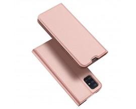 Husa Flip Cover Premium Duxducis Skinpro Samsung Galaxy A51, Rose Gold
