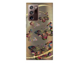 Husa Silicon Soft Upzz Print Samsung Galaxy Note 20 Ultra Model Golden Butterfly
