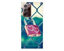 Husa Silicon Soft Upzz Print Samsung Galaxy Note 20 Ultra Model Heart Lock