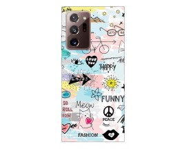 Husa Silicon Soft Upzz Print Samsung Galaxy Note 20 Ultra Model Meow