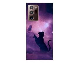 Husa Silicon Soft Upzz Print Samsung Galaxy Note 20 Ultra Model Shadow Cat