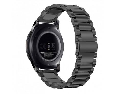 Curea Ceas Upzz Tech Stainless Compatibila Cu Samsung Galaxy Gear S3 Negru
