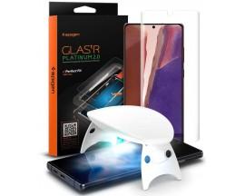 Folie Sticla Premium Spigen Glas.tR Platinum 2.0 Samsung Note 20 Ultra AGL01446