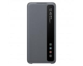 Husa Originala Clear View Pentru Samsung Galaxy S20 Cu Display Inteligent ,gri
