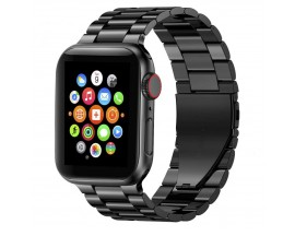 Curea Ceas Upzz Tech Stainless Compatibila Cu Apple Watch 1/2/3/4/5/6 (42/44mm) Black