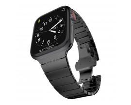 Curea LinkBand Upzz Tech Protect compatibila Cu Apple Watch 1/2/3/4/5/6 (42/44mm) Black