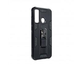 Husa Premium Upzz Defender Antishock Compatibila Cu Huawei P40 Lite E ,Negru -Stand Magnetic Pe spate