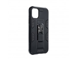 Husa Premium Upzz Defender Antishock Compatibila Cu Iphone 11 ,Negru -Stand Magnetic Pe spate