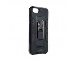 Husa Premium Upzz Defender Antishock Compatibila Cu Iphone 7/8/ SE2 ( 2020 ) ,Negru -Stand Magnetic Pe spate
