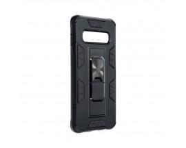 Husa Premium Upzz Defender Antishock Compatibila Cu Samsung Galaxy S10 ,Negru -Stand Magnetic Pe spate