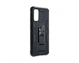 Husa Premium Upzz Defender Antishock Compatibila Cu Samsung Galaxy S20 ,Negru -Stand Magnetic Pe spate