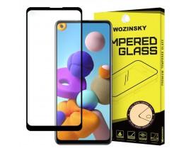 Folie Sticla Full Cover Full Glue Wozisky Samsung Galaxy A21s Cu Adeziv Pe Toata Suprafata Foliei Neagra