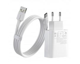 Incarcator Quick Charger Baseus, Speed Pps, C+a, 30w, Eu, Vooc Edition, Usb/ Usb-c + Cablu 1m, 5a, U-c Flash, Alb