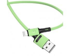 Cablu Date / Incarcare Usams U52 2A Fast Charge Mufa Lightning ,Verde - SJ434USB02