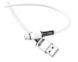Cablu Date / Incarcare Usams U52 2A Fast Charge Mufa MicroUsb ,Alb -SJ435USB01