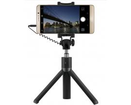 Selfie Stick Tripod Huawei AF14, Extensibil, Shutter pe fir si suport de telefon, Black