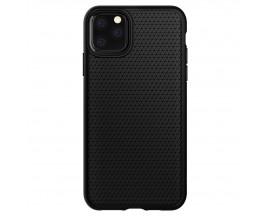 Husa Premium Originala Spigen Liquid Air iPhone 12 Negru Silicon