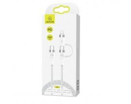 Cablu Date Usams U31 Usb-C la Usb-C /Lightning 60w PD Fast Charge Alb - SJ403USB02