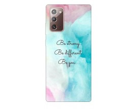 Husa Silicon Soft Upzz Print Samsung Galaxy Note 20 Model Be You