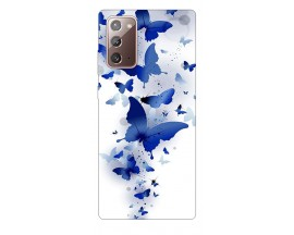 Husa Silicon Soft Upzz Print Samsung Galaxy Note 20 Model Blue Butterflies