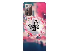 Husa Silicon Soft Upzz Print Samsung Galaxy Note 20 Model Butterfly